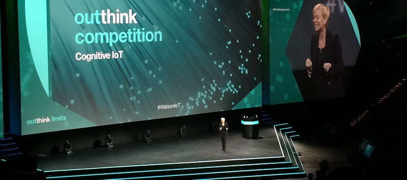Harriet Green, IBM General Manager, Watson Internet of Things on stage at IBM InterConnect 2016