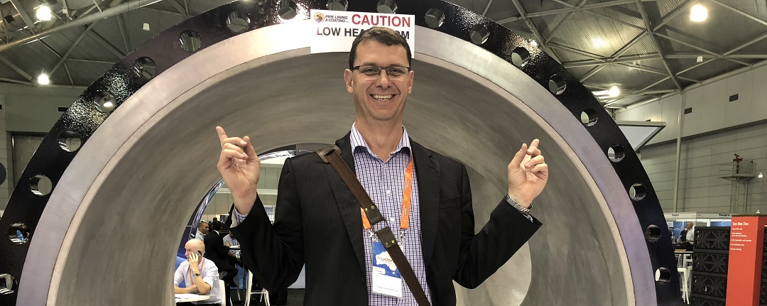Michael Krome in the pipes at OzWater'18