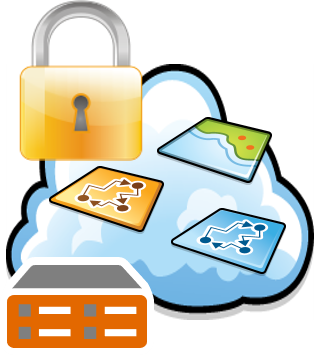 Secure access natively within the GIS ier